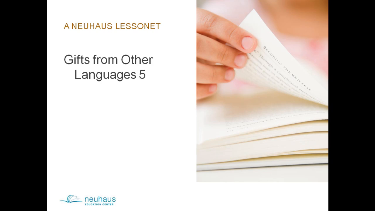 Gifts from Other Languages 5 (ject)